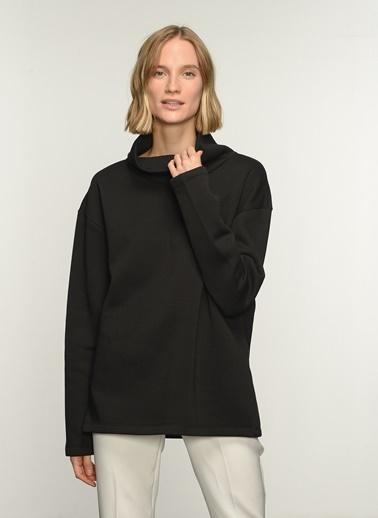 People By Fabrika PFKAW21SW0083 Boğazlı Sweatshirt Siyah